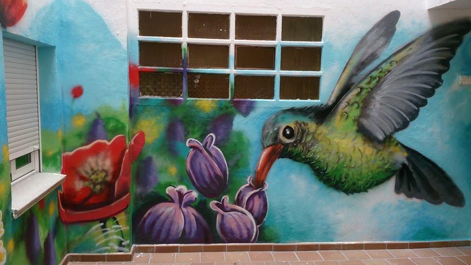 comunidad mural graffiti