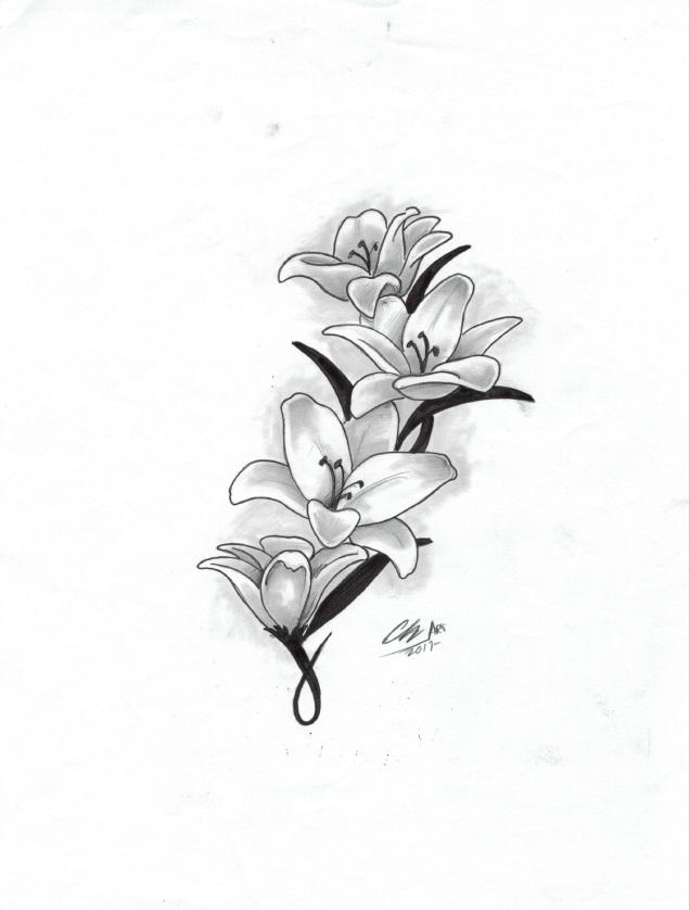 flores tattoo femenino palencia