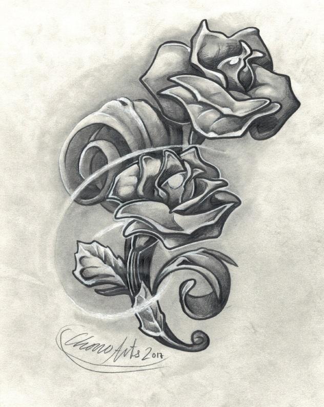 rosa cover tattoo palencia tatuadores tatuaje