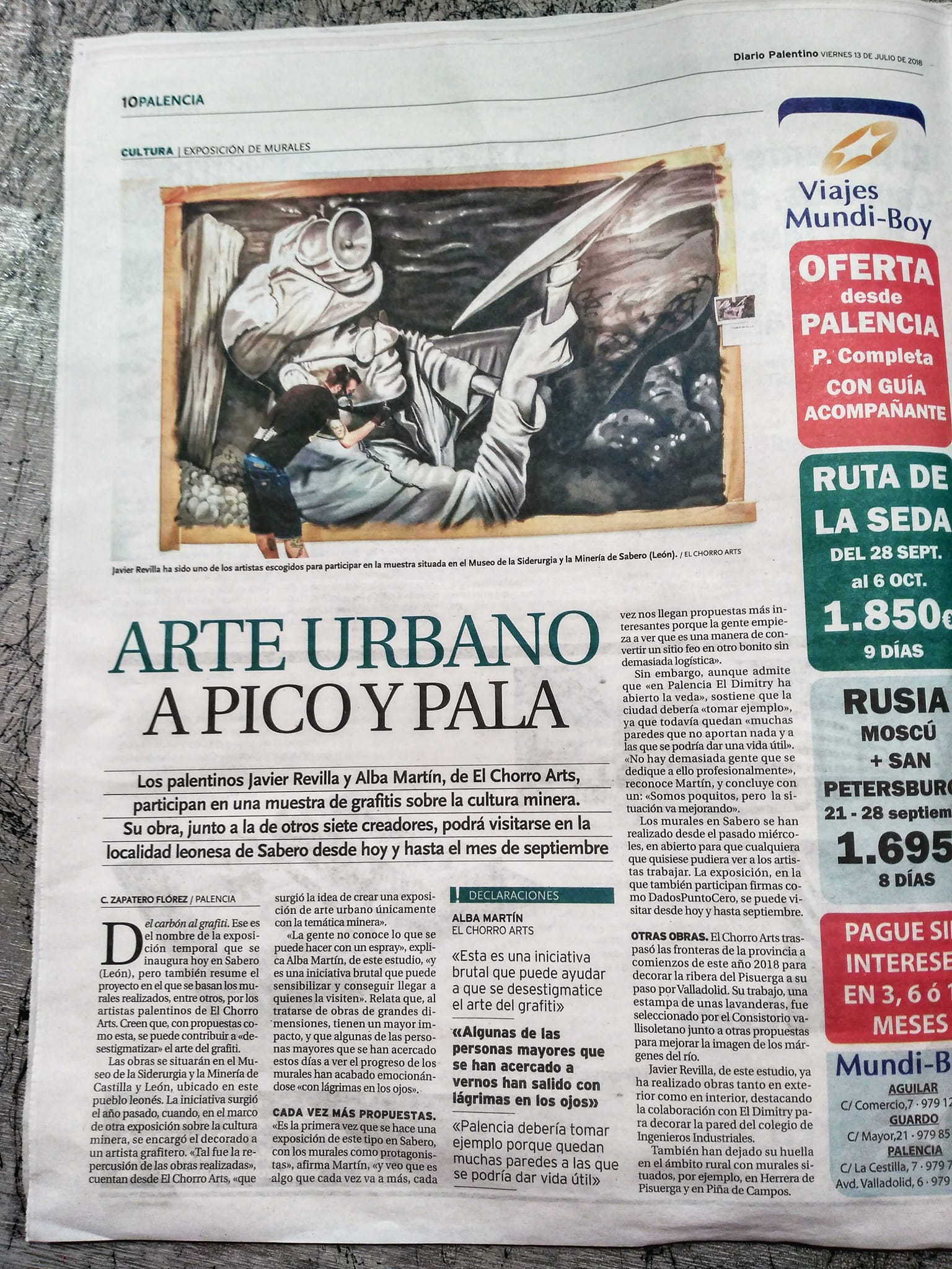 diario palentino palencia arte urbano mural sabero graffiti museo