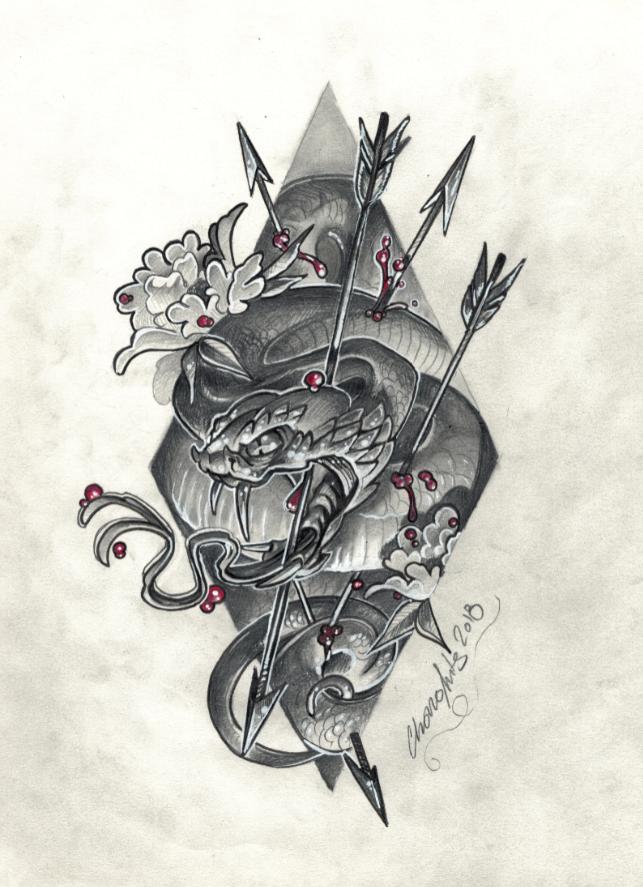 serpiente tatuaje neo japones palencia tattoo