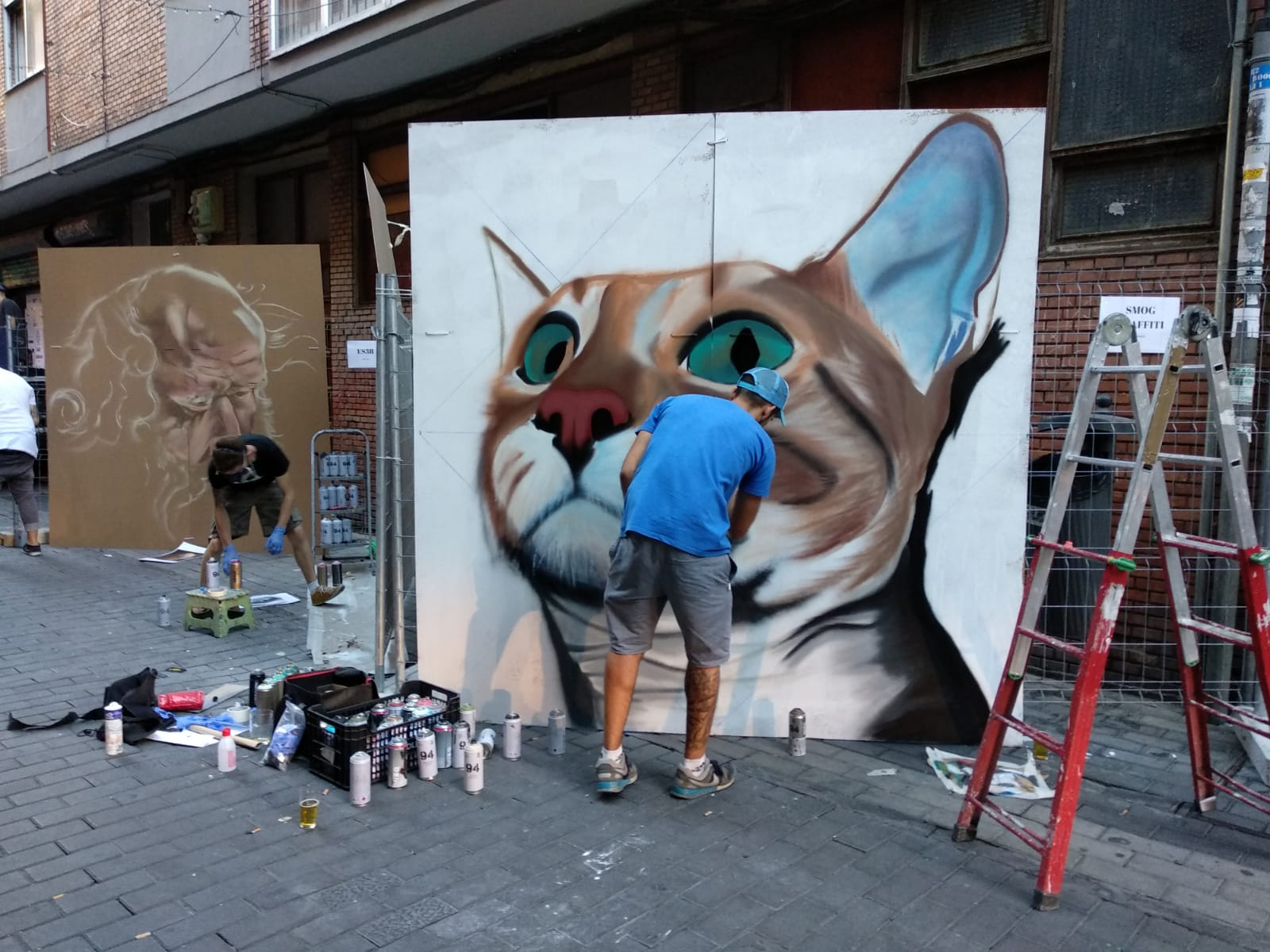 dani smogg graffiti san antolin infame fiestas palencia arte urbano mural