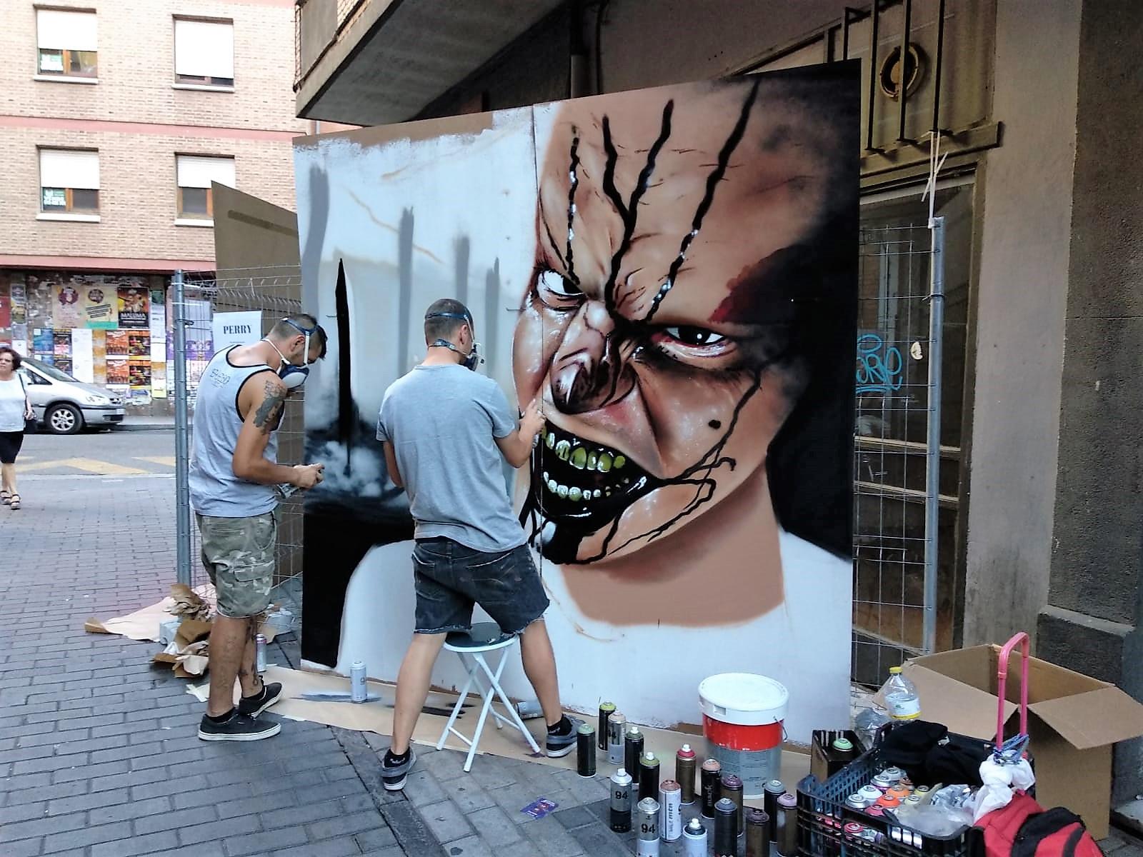 dani perry san antolin infame fiestas palencia arte urbano mural