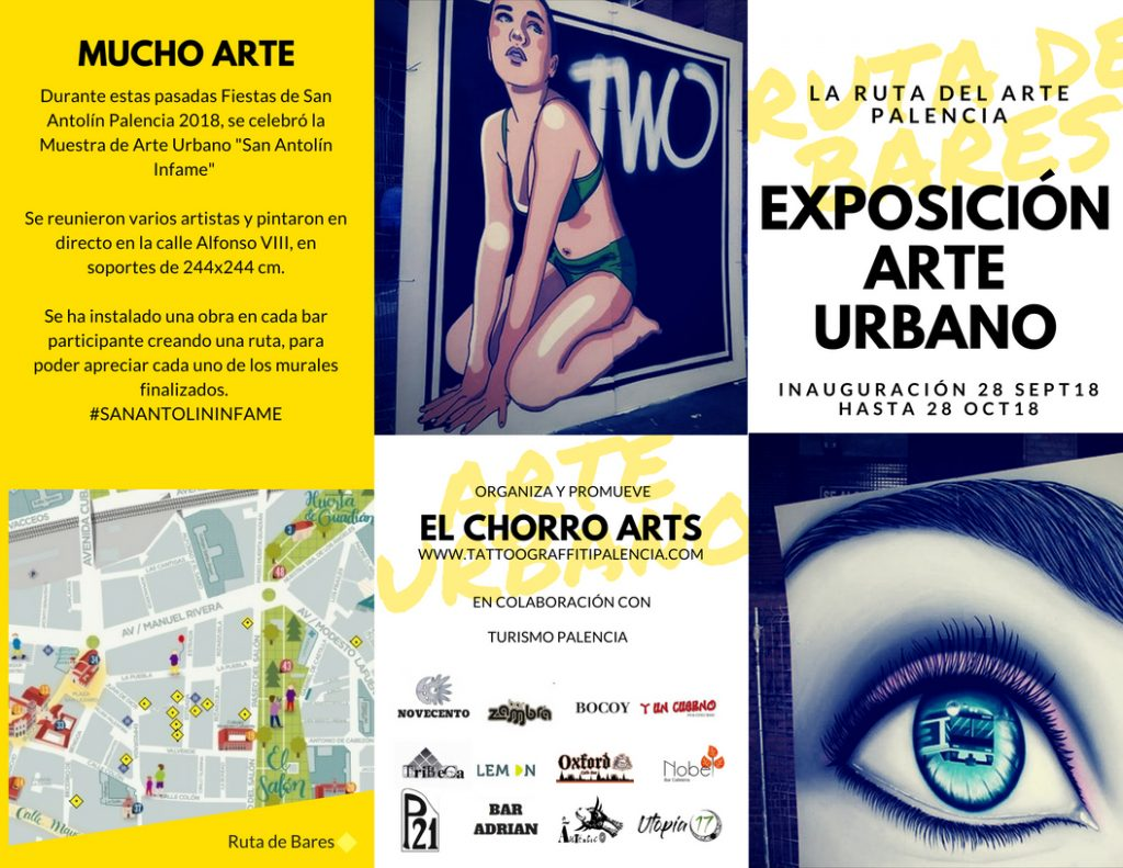 palencia san antolin infame arte urbano exposición bares