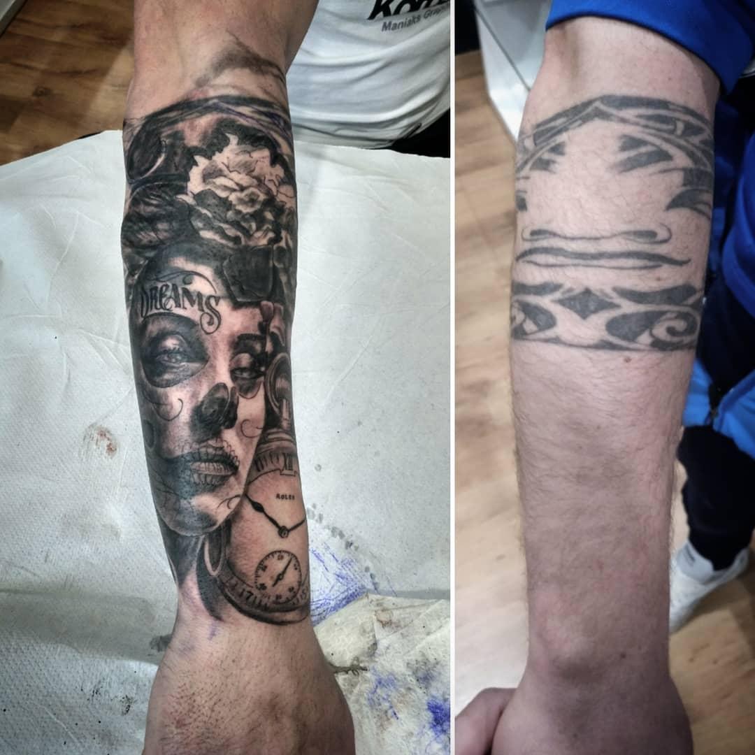 cover up tatuaje tattoo palencia catrina