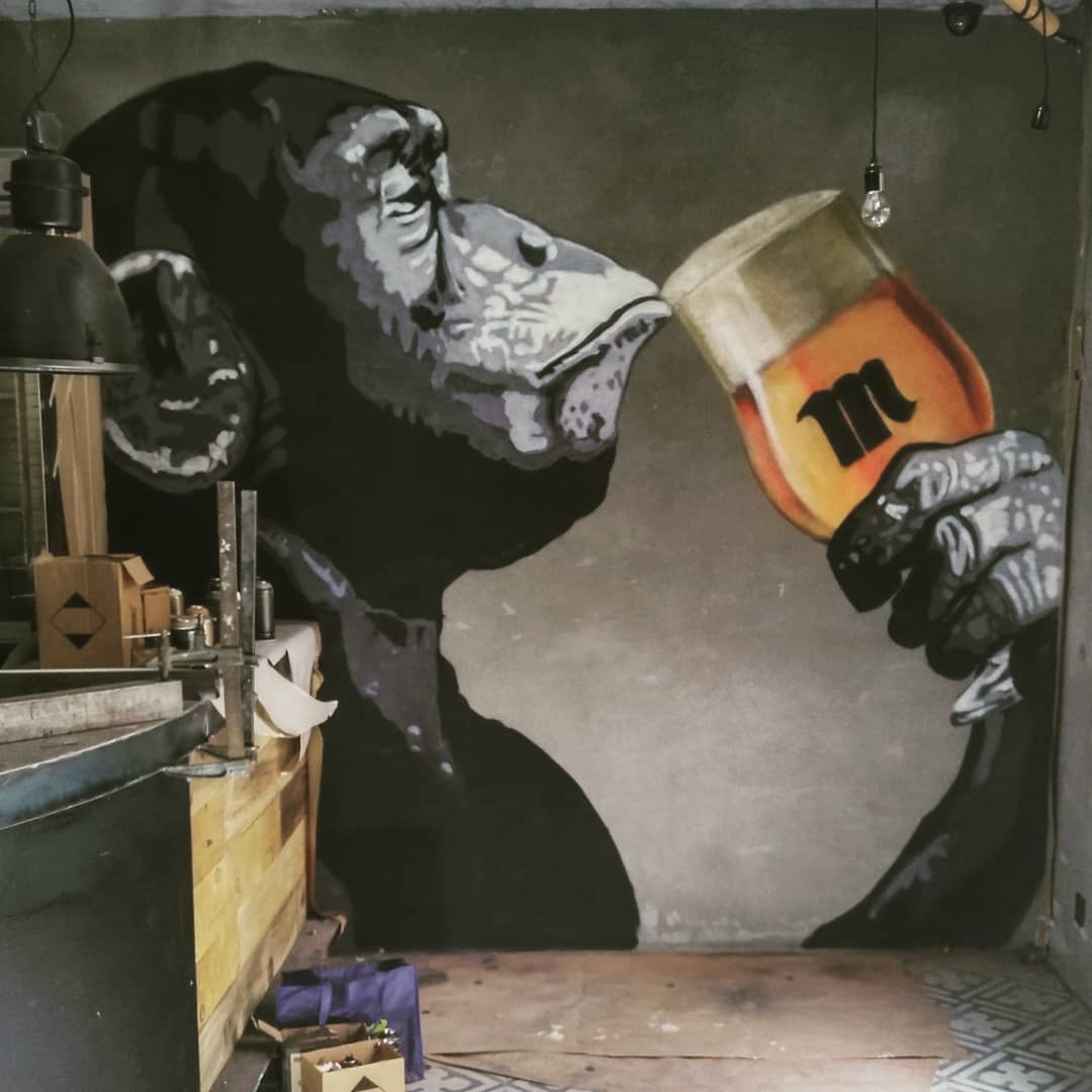 palencia arte mural art graffiti rivera 13 bar decoración