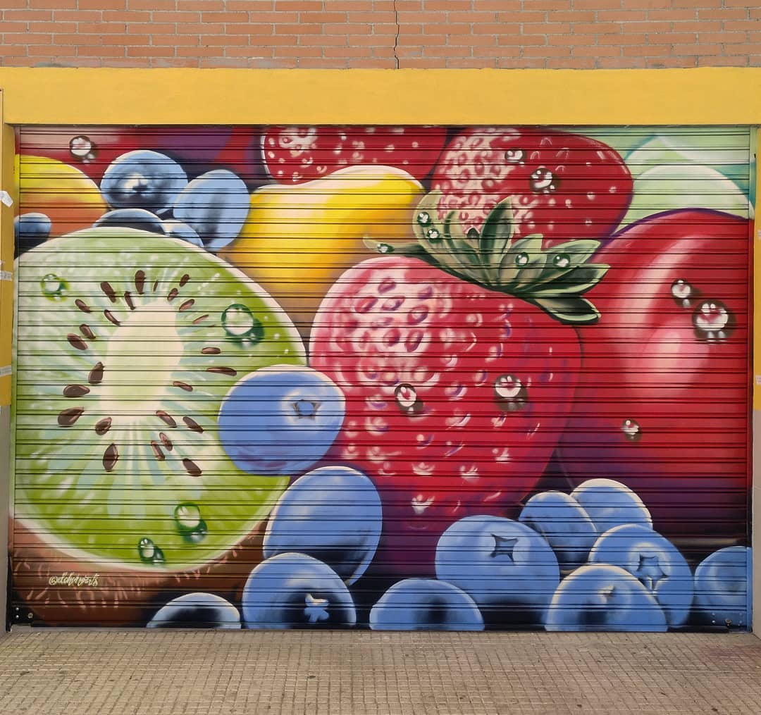 mural graffiti palencia madrid montana cans spray