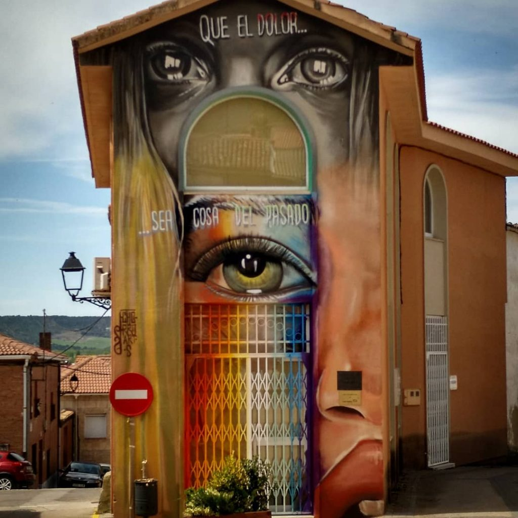graffiti tariego palencia mural arte