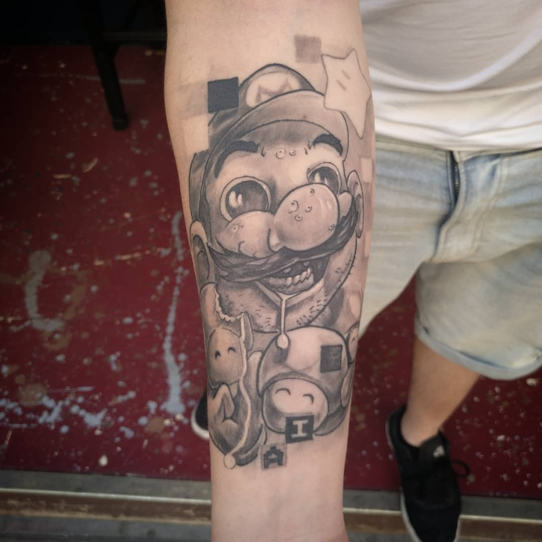 mario bross tattoo