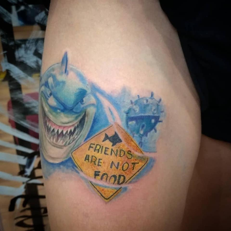buscando a nemo tatuaje tattoo palencia color valladolid oxygeno tattoo